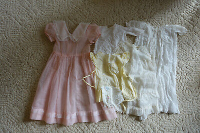 vintage baby clothes lot and girls sheer dotted swiss dress