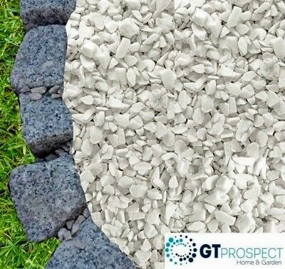 Decorative EXTRA WHITE STONES Aggregate Gravel Chippings Landscaping Garden