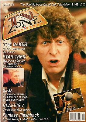 MAGAZINE TV Zone 32 - V Good -Dr Who SHADA UFO Blake's 7 Star Trek Next Generati