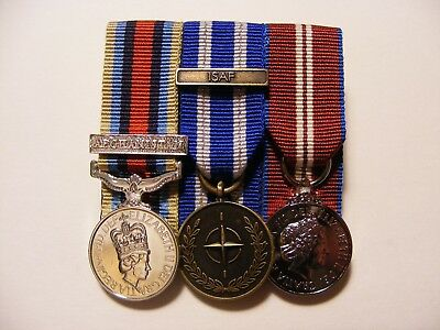 OSM Afghanistan, ISAF, Queens Diamond Jubilee Miniature Medals Mounted
