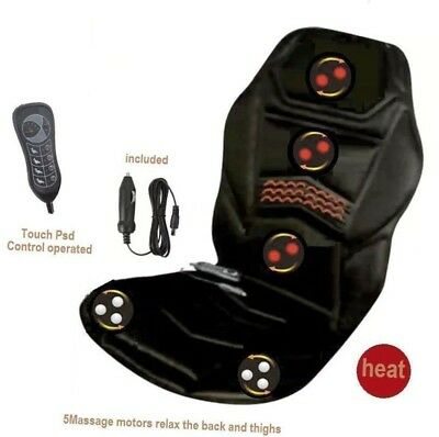 Heated Massage Chair Back Seat Remote Control Cushion for Car Van Relaxing New