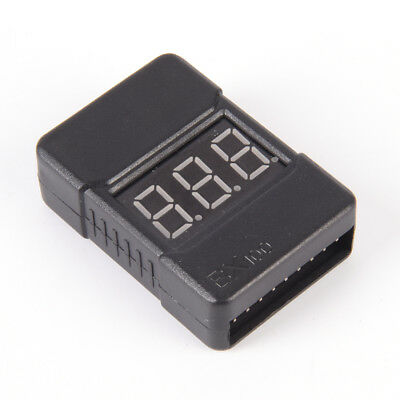 BX100 1-8S Lipo Li-ion Battery Voltage Tester Monitor Low-Voltage Buzzer AlarmHC