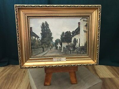 Decorative gold frame picture painting of Goose Lane by Charles James Fox