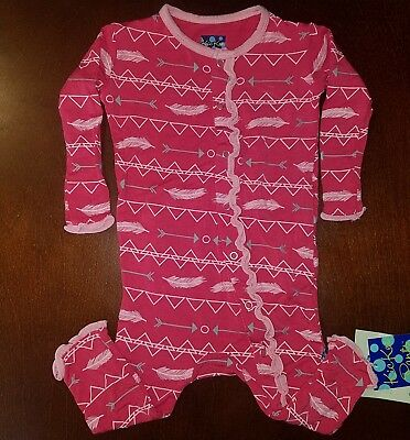 KicKee Pants Infant Girl Prickly Pear Southwest Ruffle Coverall 3-6 Months New