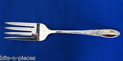 VINTAGE Community WHITE ORCHID  silverplate Meat Serving Fork