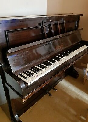 upright piano vintage. R Fallowes & co