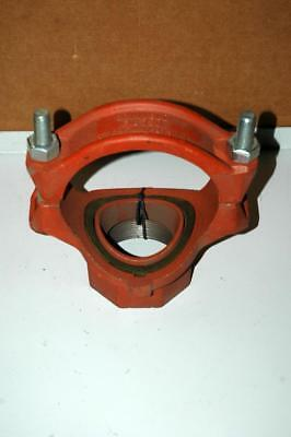 """Grinnell Mechanical Threaded Tee Fig 730 5x3"""" Fire Sprinkler Pipe Coupling - NOS"""