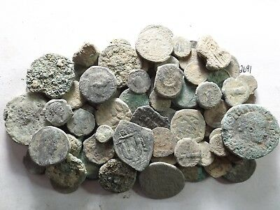 Lot of 100 Low Quality Uncleaned Ancient Roman/Greek/Other Coins; 244.8 Grams!!