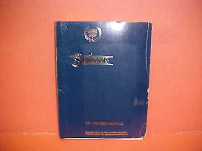 1987 Cadillac SEVILLE Owner's manual,
