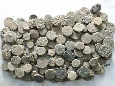 Lot of 150 Low Quality Uncleaned Ancient Roman/Greek/Other Coins; 226.1 Grams!!