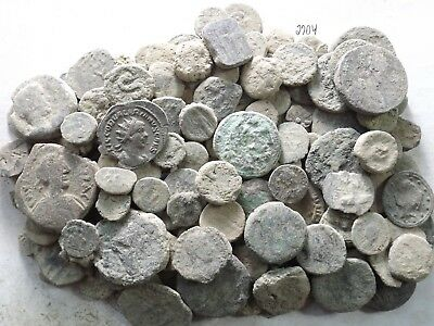 Lot of 150 Low Quality Uncleaned Ancient Roman/Greek/Other Coins; 404.7 Grams!!