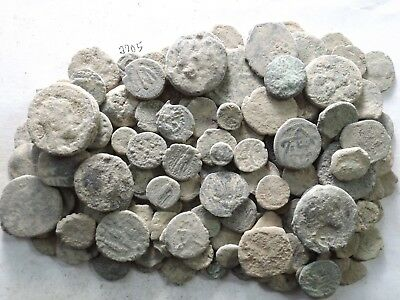 Lot of 150 Low Quality Uncleaned Ancient Roman/Greek/Other Coins; 310.8 Grams!!