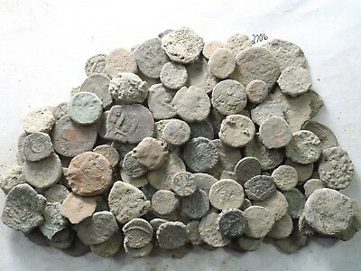 Lot of 150 Low Quality Uncleaned Ancient Roman/Greek/Other Coins; 301.3 Grams!!
