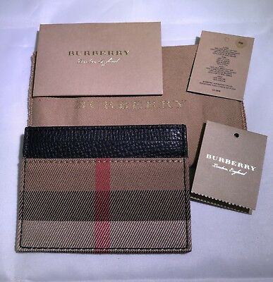 (New) Burberry Sandon Leather Card Case