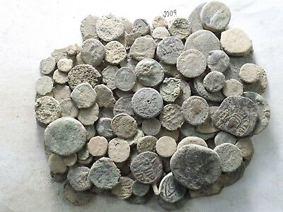 Lot of 150 Low Quality Uncleaned Ancient Roman/Greek/Other Coins; 403.4 Grams!!