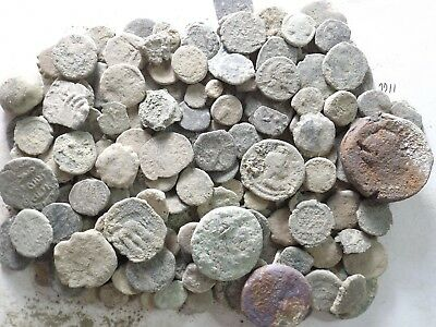 Lot of 150 Low Quality Uncleaned Ancient Roman/Greek/Other Coins; 345.6 Grams!!