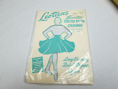 Vintage Collectible LEOTEENS Seamless Stretch Nylon Stockings---- PACKAGE ONLY