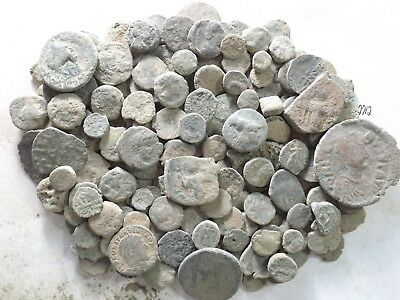 Lot of 150 Low Quality Uncleaned Ancient Roman/Greek/Other Coins; 289.5 Grams!!