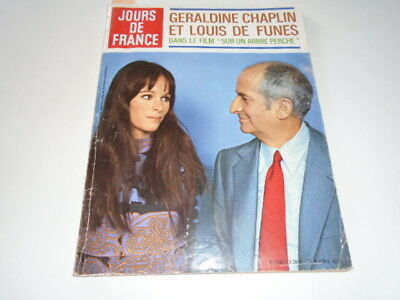 Jours De France N° 853Chaplinet De Funes - Jerry Lewis-  1971