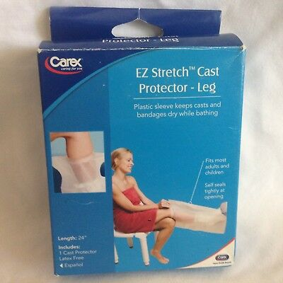 "Ez Stretch Cast Protector Leg  24"" Length  Reusable Latex Free Seal Tight Fit"
