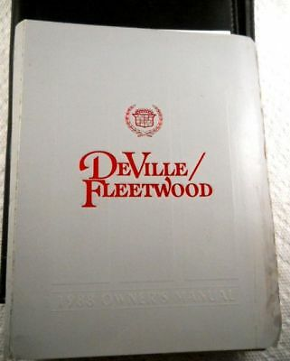 1988 Cadillac DEVILLE & FLEETWOOD Owner's manual,