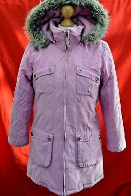 girls Stunning NEXT warm coat parka long jacket padded hooded age 11-12 years