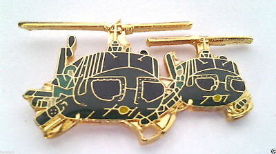 """2 HUEY HELICOPTERS  (ONE 1-1/2"""" PIN) Military Veteran VIETNAM Hat Pin 16015 HO"""
