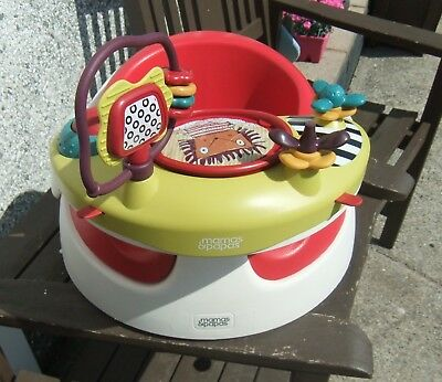 Mamas and Papas Baby Snug Seat with Play Activity Tray - Red