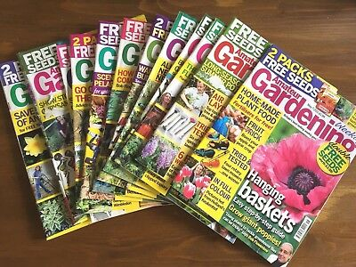 Joblot... 12 x Amateur Gardening Magazines,  MAY to JULY,
