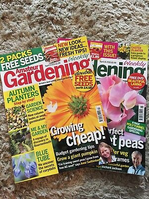 2 x Amateur Gardening Magazine April 2011 includes weekly jobs for veg,flowers..