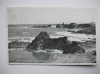 Dunbar Castle from the Esplanade. (1935 – Valentine's Silveresque Post Card)
