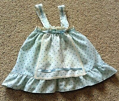 Vintage Evy of California Baby Girl Toddler Apron Pinafore Dress Lace ToddleTime
