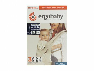 Ergobaby Original Ergonomic Multi-Position Natural Linen Baby Carrier Beige-