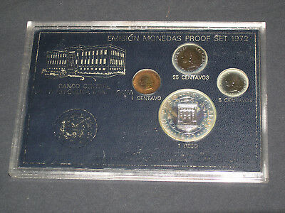 1972 Domincan Republic Proof Coin Set .7726 Asw Bv $90.00
