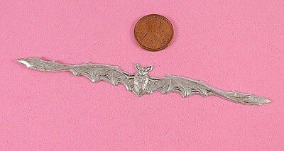 Vintage Design Antique Silver Plated Brass Long Winged Bat - 1 Pc