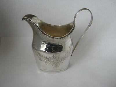 SOLID SILVER MILK CREAM JUG MADE IN LONDON by WILLIAM SOMNER IN 1797
