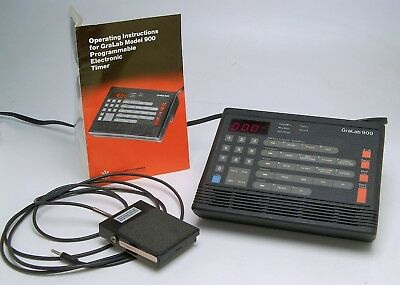 GraLab 900 darkroom timer, excellent condition, with foot switch, instructions