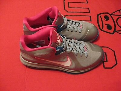 New Nike Air Lebron 9 Low Gray Pink Blue And White Size 10.5 Shoes #1513
