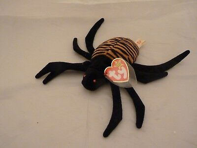 1996 Ty Original Beanie Babies SPINNER The Spider w/Tags (7 inch)