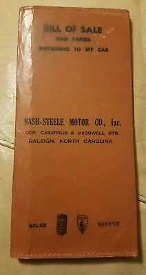 1940s-50s? Dodge Plymouth glove box folder for papers, Raleigh, NC