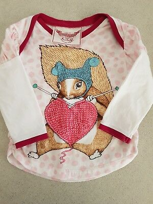 Adorable baby Paper Wings Little Wings squirrel top