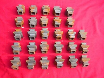 Lot Of 28 Cast Iron Ornamental Fence Embellishments