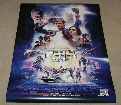READY PLAYER ONE - Spielberg - Original DS 27x40 Movie Poster - NEW and MINT
