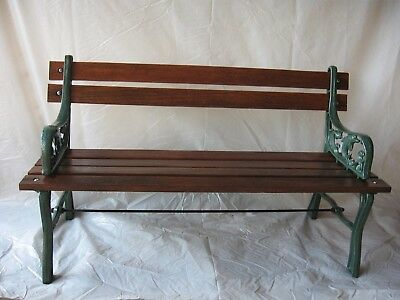 Cast Iron and Wooden Bench for Children Dolphins Vintage