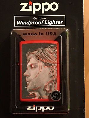 Kurt Cobain Genuine Zippo Windproof Lighter With FREE SHIPPING!