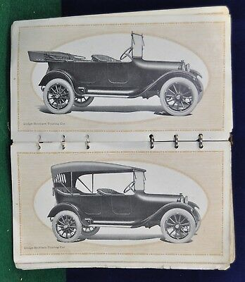 Antique 1916-1917 Dodge Brothers Works -  98 Page Automobile Sales Booklet
