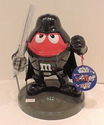 "M&M'S World Star Wars Darth Vader Candy Dispenser 10"" tall Brand New Unused"