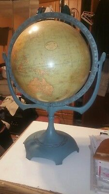 "12"" C.S. Hammond Globe Terrestrial Antique Collector with full stand"