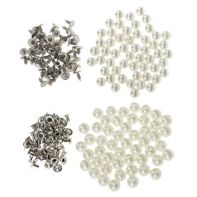 100x 6mm Round Double Caps Studs Rapid Rivets Leathercraft Source · MagiDeal 100 Sets Pearl Rivets Stud Buttons for Leathercraft Bag Decor 6 8mm