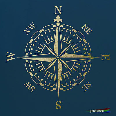 Compass Stencil :  For Art, Walls And Furniture:  ST62